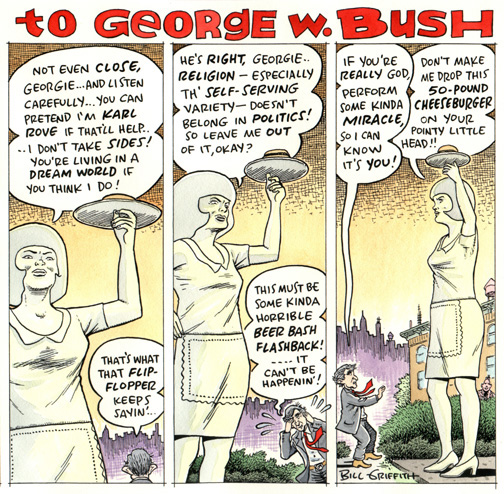 Boondocks george w bush comic strip