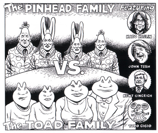 zippy the pinhead the pinhead family vs the toad family 1995